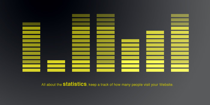 You can find out statistics about your website
